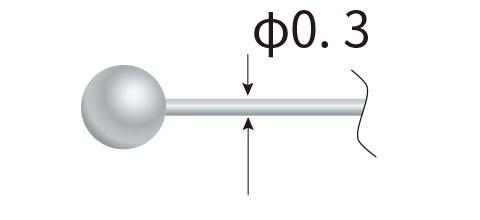 球サイズ MAX φ1.5
