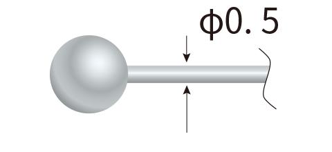 球サイズ MAX φ2.5