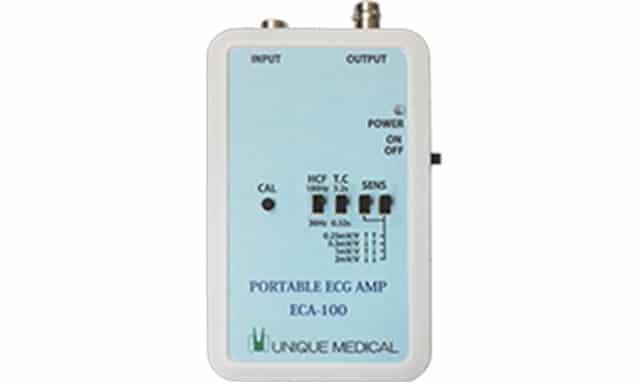 ポータブル心電図アンプ ECA-100