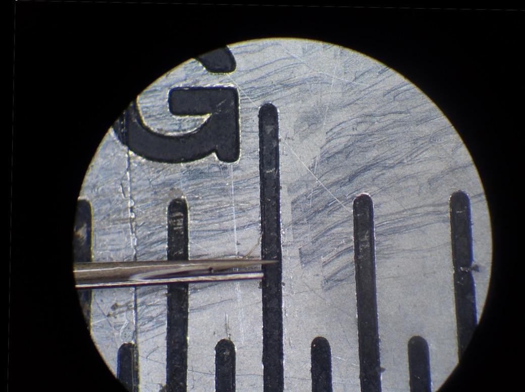 カニューレ付き微小電極先端部